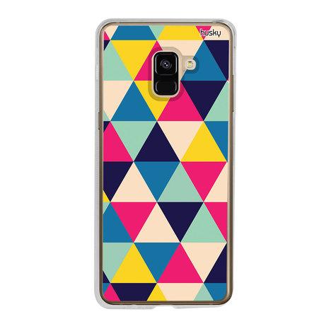 Capa Personalizada para Galaxy A8 (2018) - Triangulos - Husky