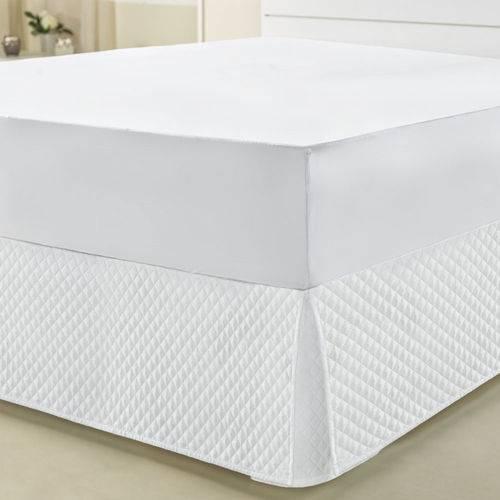 Capa Protetora para Colchão Queen Impermeável Branco C/ Slip