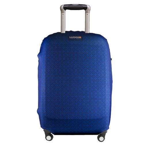 Capa Protetora Premium para Mala de Viagem Luggio Estampa Azul