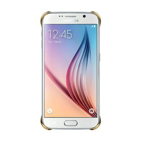 Tudo sobre 'Capa Protetora Samsung Clear Cover Dourada para Galaxy S6'