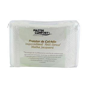 Capa Protetora para Colchão Solteiro Impermeável Anti-Stress - Branco
