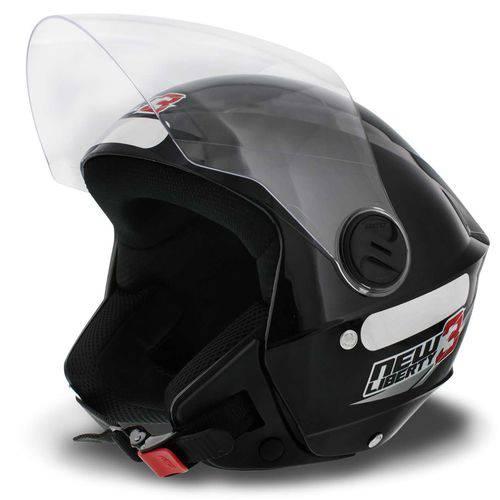 Capacete Aberto New Liberty 3 Three Pro Tork Preto Moto