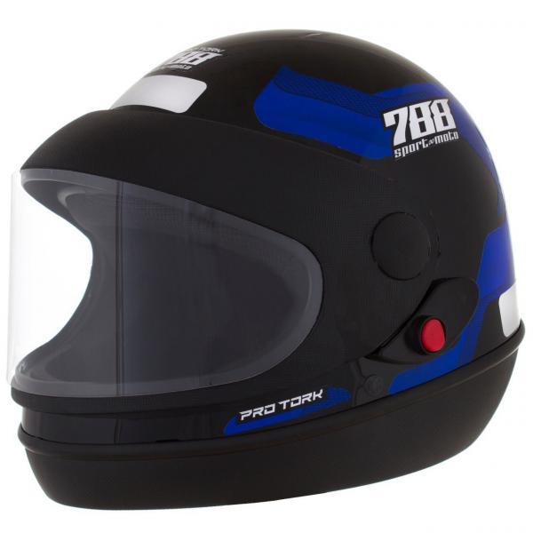 Capacete de Moto Sport Moto Preto/azul - Pro Tork