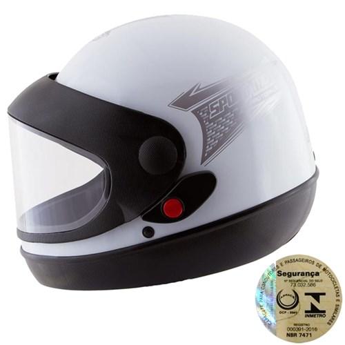 Capacete Fechado Sport Moto Prata Pro Tork - 58