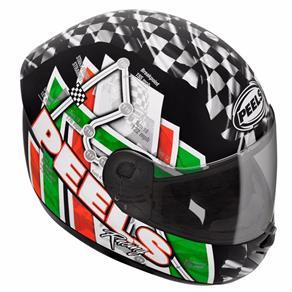 Capacete Peels Spike GP - Preto/verde - 56