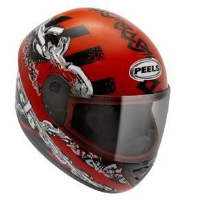 Capacete Peels Spike Monster - Vermelho/Preto - 56