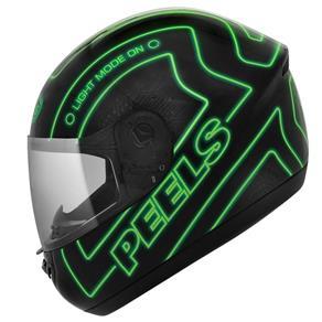 Capacete Peels Spike Neon - 62 - Preto/Verde