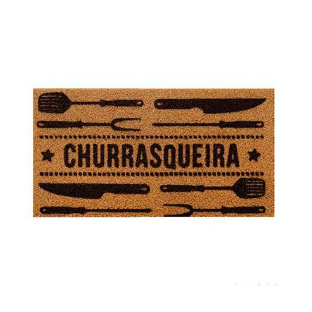 Tudo sobre 'Capacho Churrasqueira 40x75cm PVC Bege Kapazi'