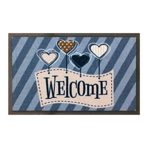 Tudo sobre 'Capacho para Porta Kapazi Super Luxo 74X46Cm Welcome Love - Kapazi'