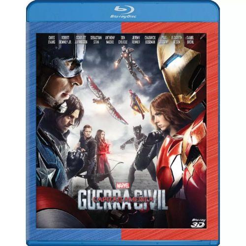Capitão América Guerra Civil - (blu-ray 3d)