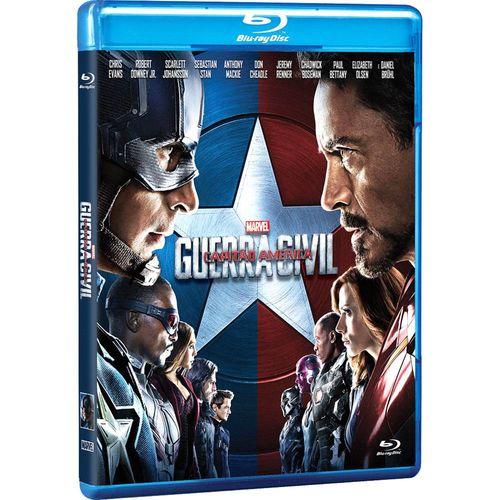 Capitão América Guerra Civil - (blu-ray)