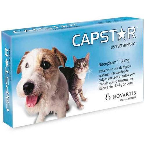 Tudo sobre 'Capstar Novartis 11,4mg Cães Gatos Até 11kg 6 Comprimidos'