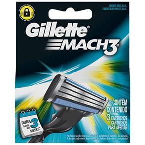 Carga de Barbear Gillette Mach3 - 3 Unidades