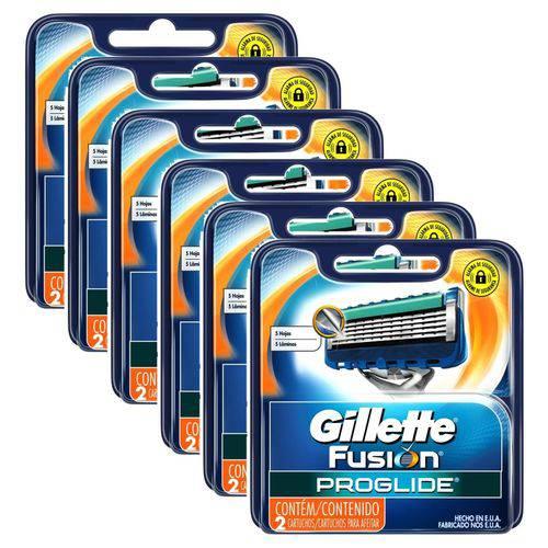 Tudo sobre 'Carga Gillette Aparelho de Barbear Fusion Proglide C/ 12'
