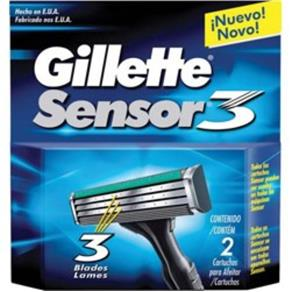 Carga Gillette Aparelho de Barbear Sensor 3 com 2 Unidades