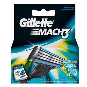 Carga Gillette Mach3 com 4Unidades