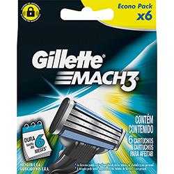 Carga Gillette Mach3 com 6 Unidades