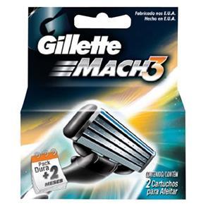 Carga Gillette Mach3 com 2 Unidades