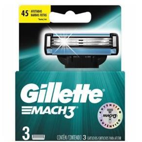 Carga Gillette Mach3 Regular com 3 Cartuchos Lacrado