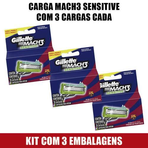 Tudo sobre 'Carga Gillette Mach3 Sensitive 3 Cargas'