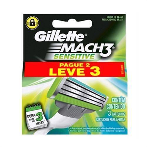 Carga Gillette Mach 3 Sensitive L3P2