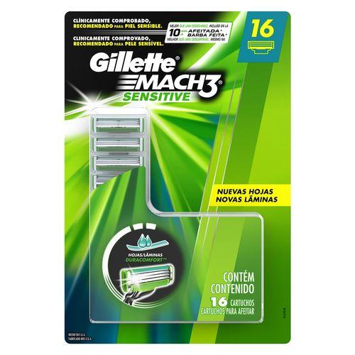 Carga Gillette Mach3 Sensitive