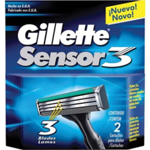 Carga Gillette Sensor 3 - 2 Unidades