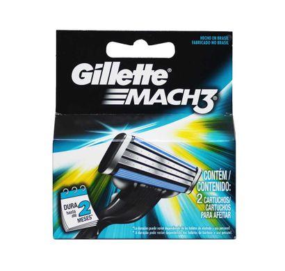 Carga Mach 3 com 2 Cartuchos - Gillette