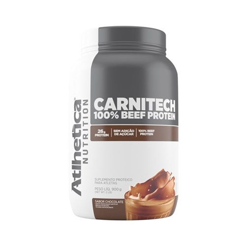 Carnitech 100% Beef Protein Atlhetica 900G - Chocolate