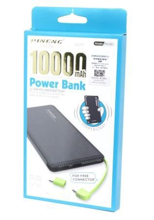 Carregador Bateria Portátil Power Bank Pineng Pn-951 10000 Mah V8