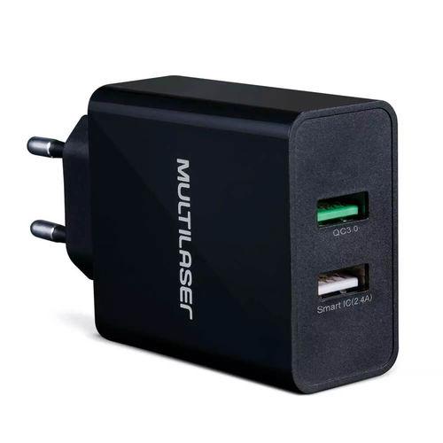 Carregador de Parede Concept 2 Portas USB Quick Charger Pret
