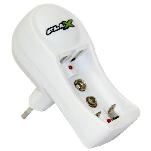Carregador de Pilha Aa/Aaa e Bateria 9V Fxc11 Bivolt - Flex