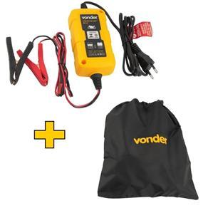 Carregador Inteligente Bateria Bivolt + Bolsa - para Moto - Vonder 12v CIB003