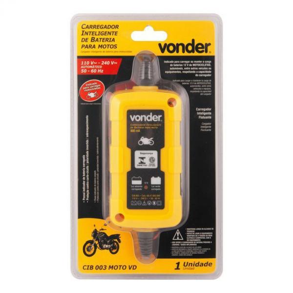 Carregador Inteligente de Bateria 127v - 220v Moto Cib 003 Vonder