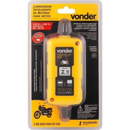 Carregador Inteligente de Bateria 127V~ - 220V~ Moto Cib 003 - Vonder