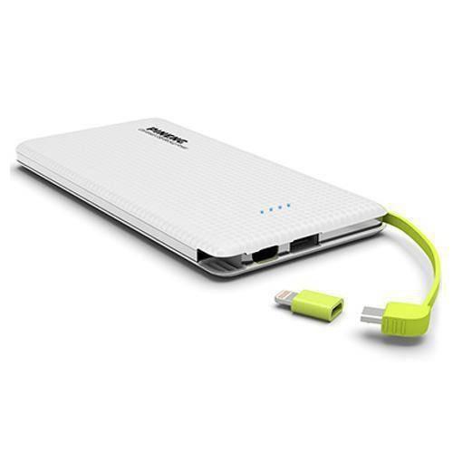 Carregador Portátil Pineng Pn-952 Branco Slim 5000mah USB