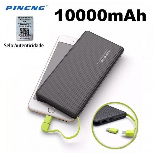 Carregador Portátil Power Bank Pineng Pn-951 10.000 Slim Mah.