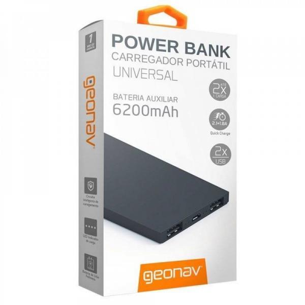 Tudo sobre 'Carregador Portátil Universal 6200mah Usb Geonav Power Bank'
