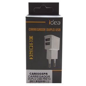 Carregador Universal Duplo USB Preto