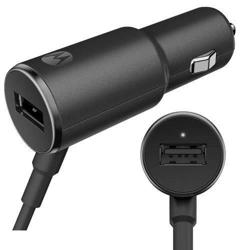 Carregador Veicular Motorola Turbo Power 25w com Cabo USB Preto
