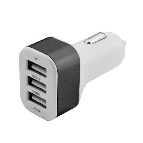 Carregador Veicular USB 3 Saidas Preto - Lelong