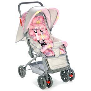 Carrinho Berço de Bebê Funny Rosa - Voyage