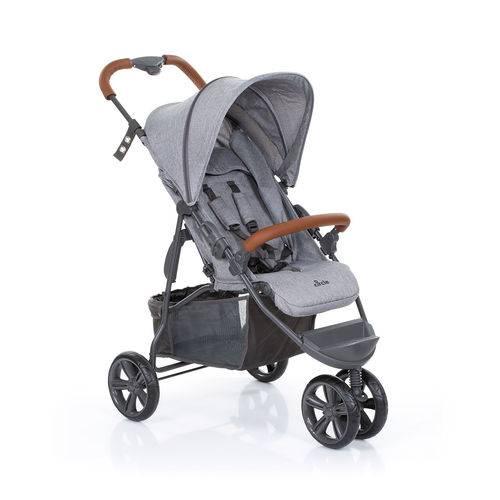 Tudo sobre 'Carrinho de Bebê ABC Design Moving Light Woven Grey (detalhe em Couro)'