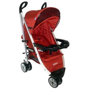 Carrinho de Bebê Cosco Umbrella Deluxe SC902 - Vermelho Tabasco