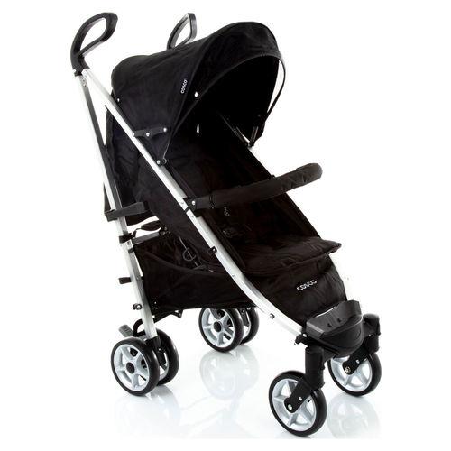 Carrinho de Bebê Deluxe Plus Preto Original Reclinável - Cosco