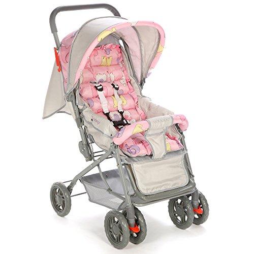 Carrinho de Bebê Funny Voyage - Rosa