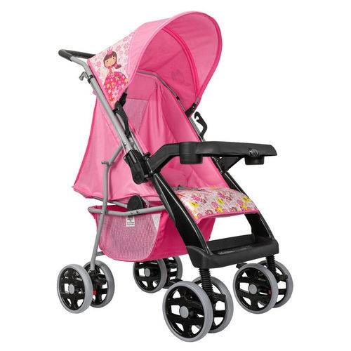 Carrinho de Bebê Magni Rosa - Tutti Baby