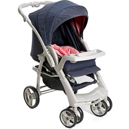 Carrinho de Bebe Optimus Rosa