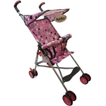 Carrinho de Bebê Passeio Style Rosa
