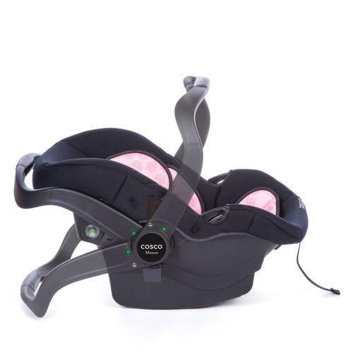 Tudo sobre 'Carrinho de Bebê Travel System Moove Rosa Trama - Cosco'